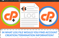 In which LogFile would you find Account Creation/Termination Information?